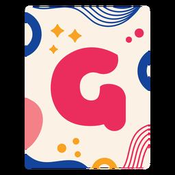 Letter g flashcard