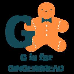 Letter g gingerbread alphabet