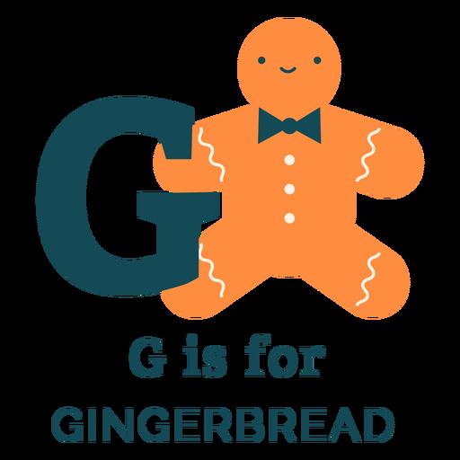 Alfabeto de pan de jengibre de letra g