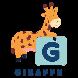 Alfabeto de letra g girafa