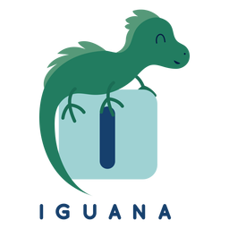 Letra i alfabeto de iguana