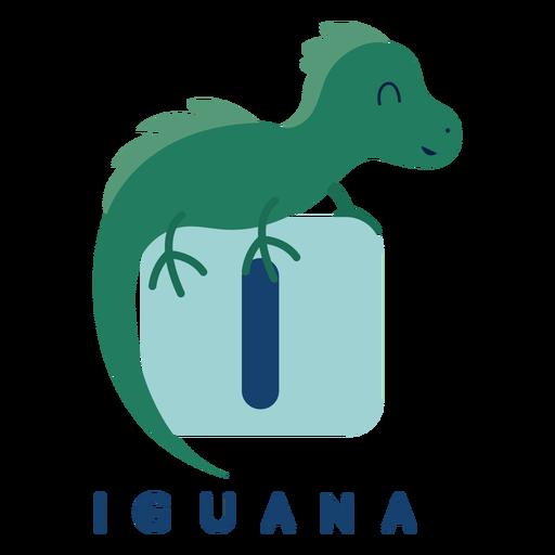 Alfabeto de letra i iguana