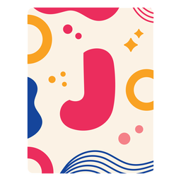 Letra j flashcard