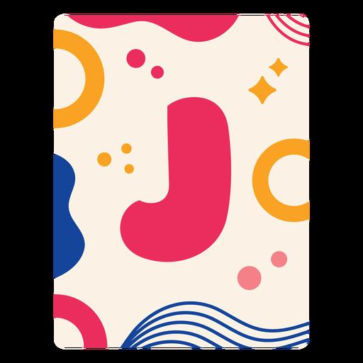 Letter j flashcard Transparent PNG