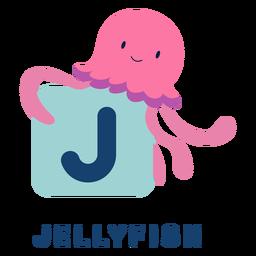 Alfabeto letra j medusa