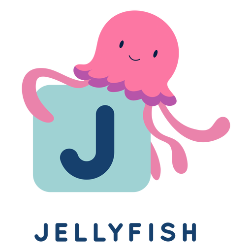 Letter j jellyfish alphabet Transparent PNG