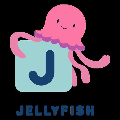 Letter j jellyfish alphabet