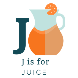 Letter j juice alphabet