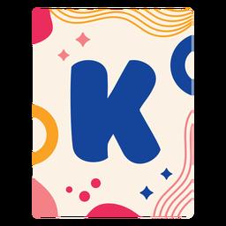 Letra k flashcard