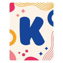 Letter k flashcard