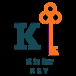 Letter k key alphabet