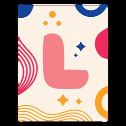 Letter l flashcard