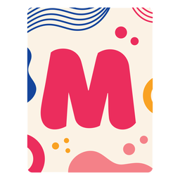 Letter m flashcard