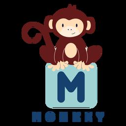 Letter m monkey alphabet