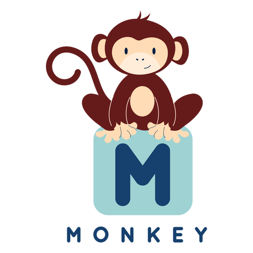 Letter m monkey alphabet Transparent PNG