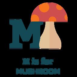 Letter m mushroom alphabet