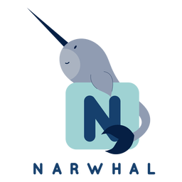 Letter n narwhal alphabet