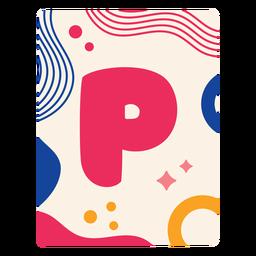 Letra p flashcard
