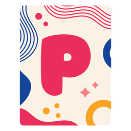 Letter p flashcard