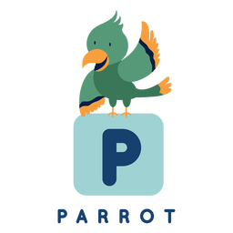 Alfabeto de papagaio letra p