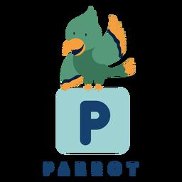 Letter p parrot alphabet