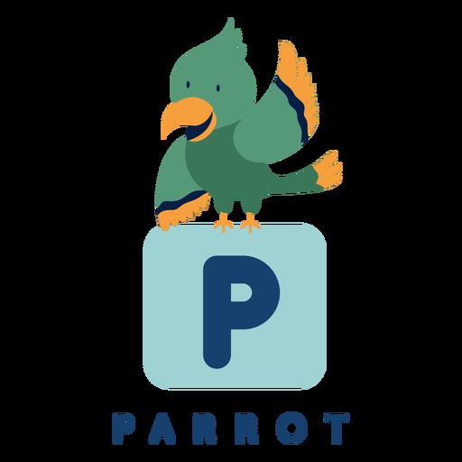 Letter p parrot alphabet Transparent PNG
