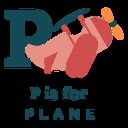 Alfabeto de letra p plano