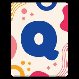 Letter q flashcard