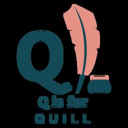 Alfabeto de letra q quill