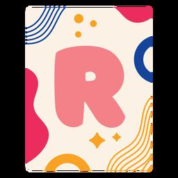Letter r flashcard