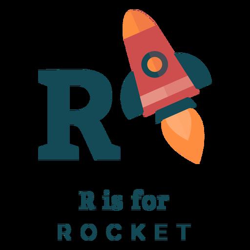 Alfabeto de letra r cohete