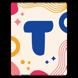 Carta t flashcard