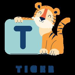 Alfabeto de letra t tigre