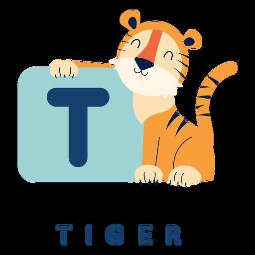 Alfabeto de letra t tigre Transparent PNG