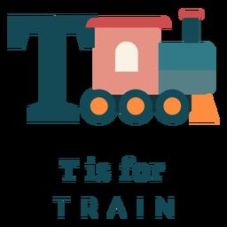 Alfabeto de trem letra t