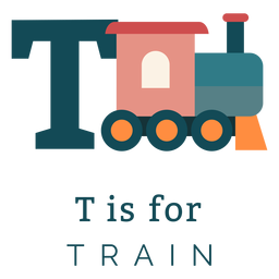 Alfabeto letra t tren
