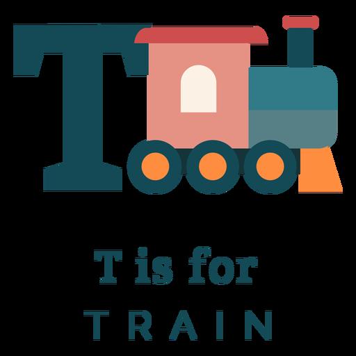 Letter t train alphabet