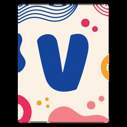 Letter v flashcard