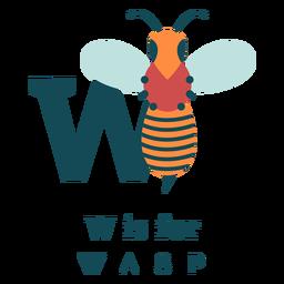 Alfabeto de vespa letra w