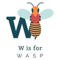 Letter w wasp alphabet