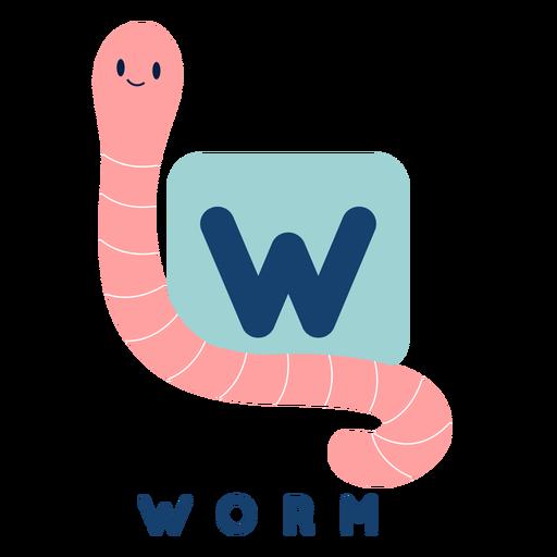 Letter w worm alphabet Transparent PNG