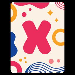Letter x flashcard