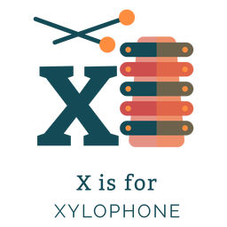 Letter x xylophone alphabet