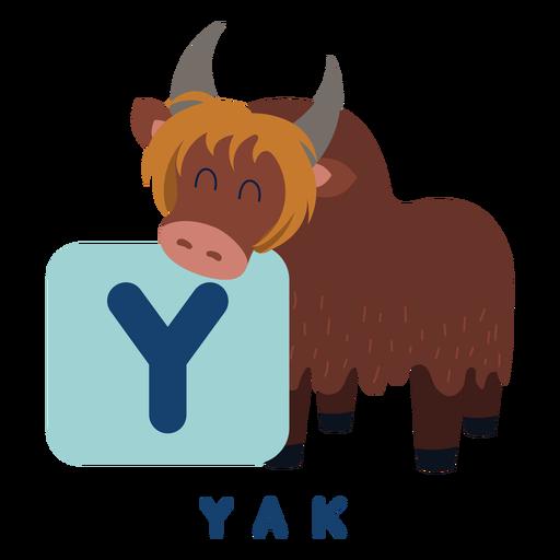 Alfabeto letra y yak