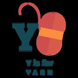 Letter y yarn alphabet