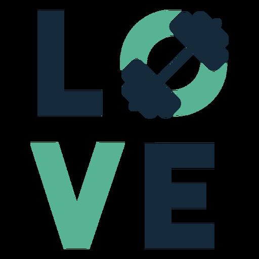 Insignia de gimnasio de amor Transparent PNG