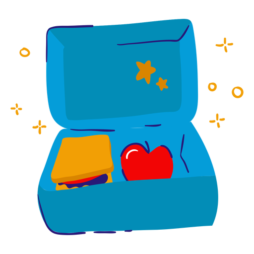 Lunch box flat - Transparent PNG & SVG vector file