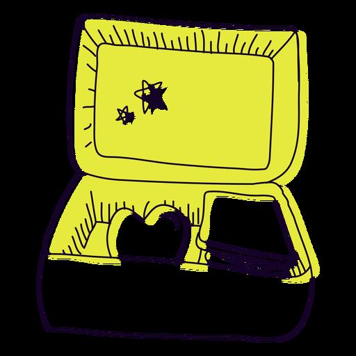 Dibujado a mano caja de almuerzo