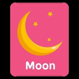 Moon vocabulary flashcard