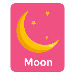 Tarjeta de vocabulario lunar